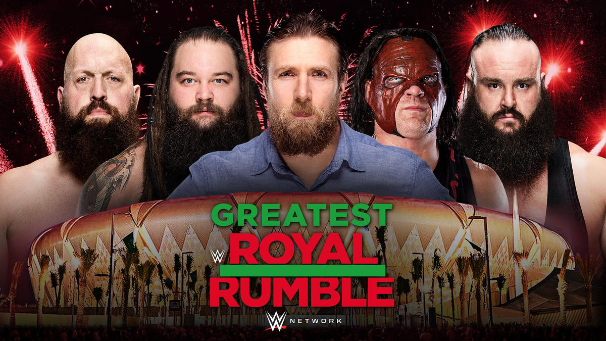 Big Show, Bray Wyatt, Daniel Bryan, Kane and Braun Strowman will enter the inaugural 50-Man Greatest Royal Rumble Match.