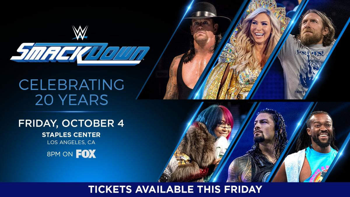 Tickets for SmackDown's 20th Anniversary in Los Angeles available starting this Friday