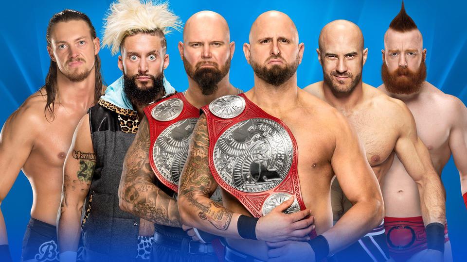 Znalezione obrazy dla zapytania Luke Gallows & Karl Anderson (c) vs. Enzo Amore & Big Cass vs. Cesaro & Sheamus
