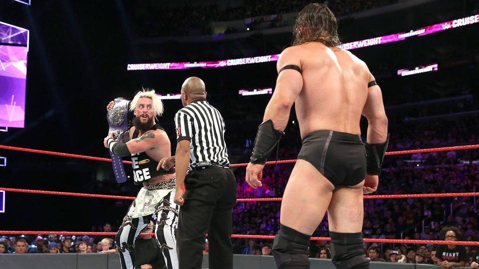G Enzo Amore has defeated The King of the Cruiserweights