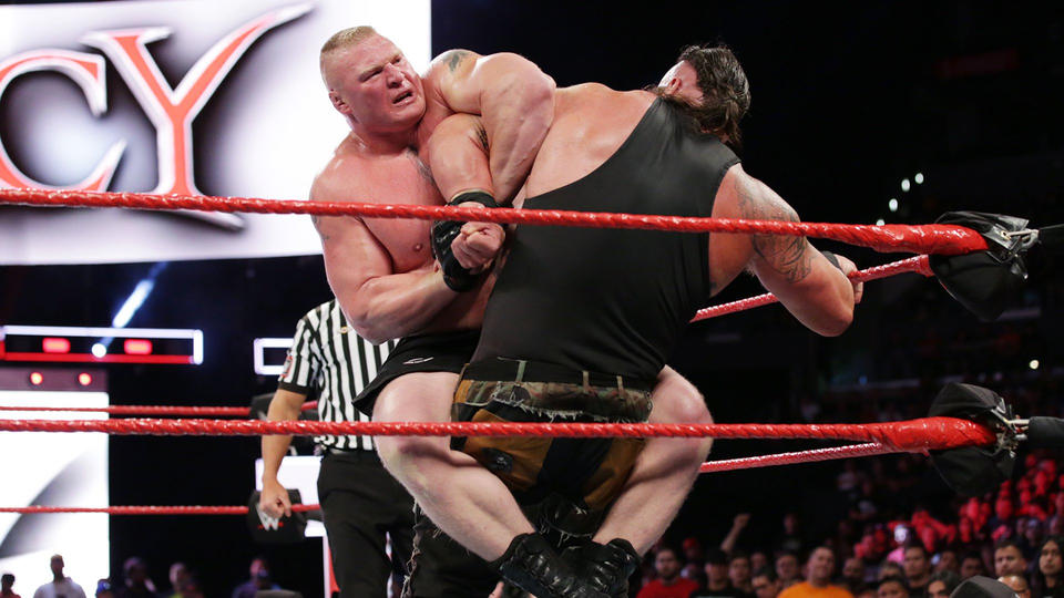 Universal Champion Brock Lesnar def. Braun Strowman
