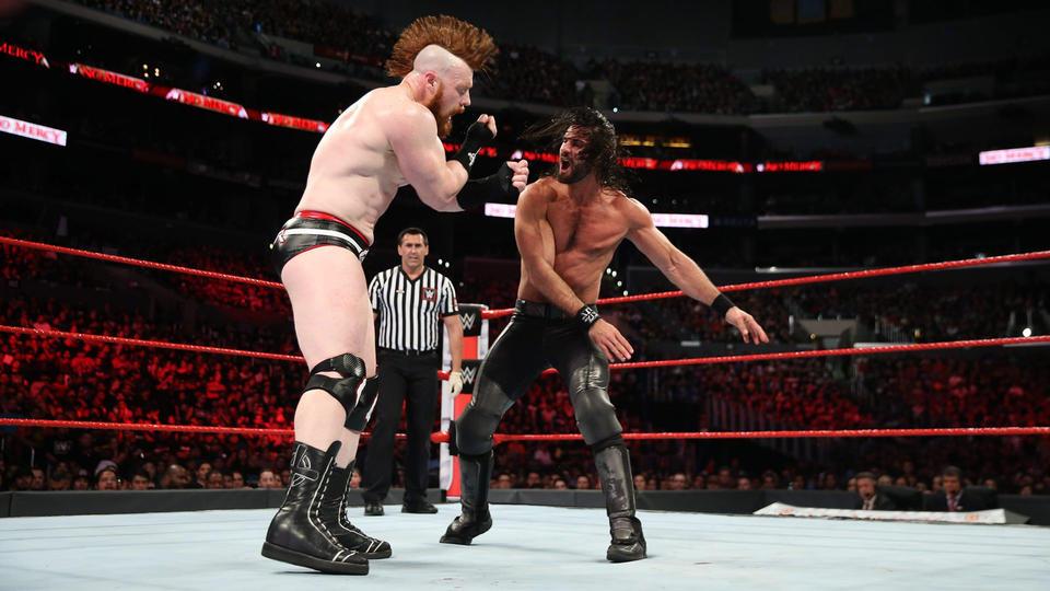 Raw Tag Team Champions Dean Ambrose & Seth Rollins def. Cesaro & Sheamus