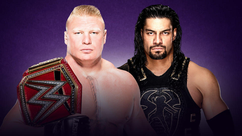 wrestlemania 34 match card_Lesnar vs Reigns