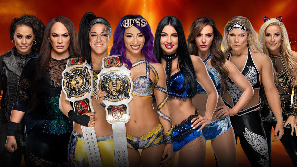 WWE Women's Tag Team Championship: Bayley & Sasha Banks (c) vs. Beth Phoenix & Natalya vs. The IIconics vs. Nia Jax & Tamina 20190325_WM_Womens--026ef498fd30573550889d19f2b3aa4c