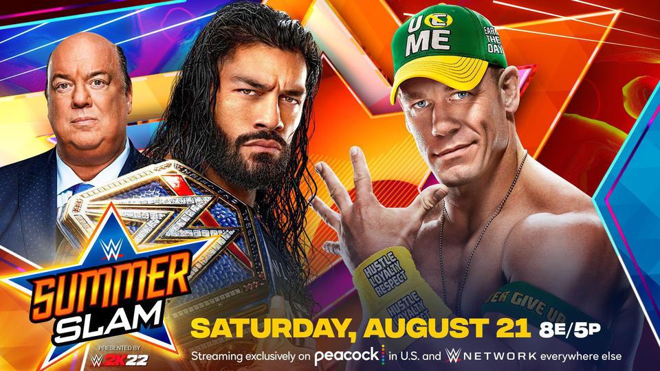 WWE SummerSlam Match Card Preview: Universal Champion Roman Reigns vs John Cena August 21, 2021