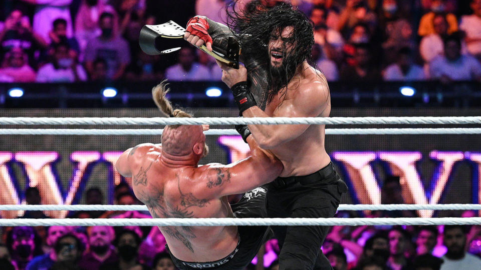 WWE Crown Jewel: Roman Reigns vs Brock Lesnar for the Universal Championship 10/21/2021 Results