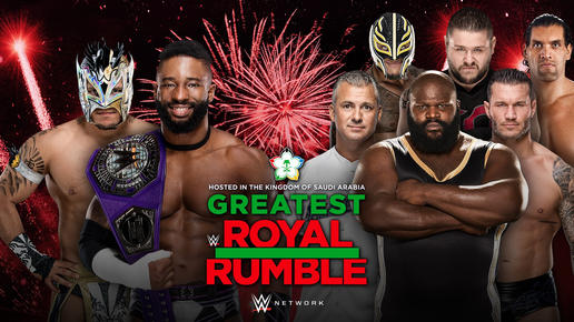 Greatest Royal Rumble event updates include a Cruiserweight Title Match and six names added to the Greatest Royal Rumble Match.