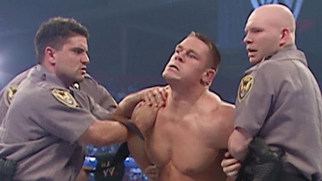 WWE Champion JBL has John Cena arrested for vandalism: SmackDown - March 31, 2005