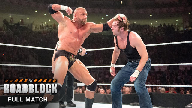 Triple H vs. Dean Ambrose - WWE World Heavyweight Title Match (FULL MATCH): Roadblock 2016 (WWE Network Exclusive)