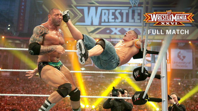 Batista vs. John Cena - WWE Title Match: WrestleMania XXVI (Full Match - WWE Network Exclusive)