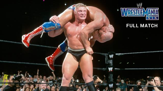 Kurt Angle vs. Brock Lesnar - WWE Title Match: WrestleMania XIX (Full Match - WWE Network Exclusive)