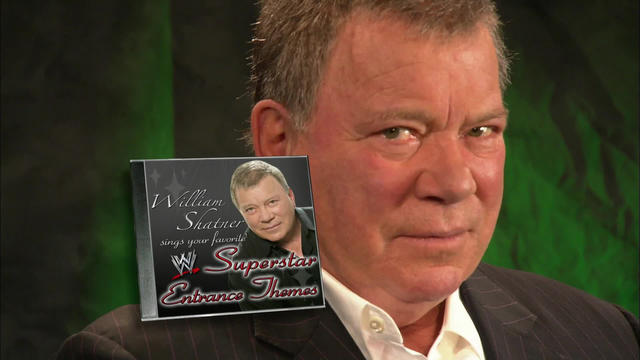 William Shatner performs WWE entrance themes