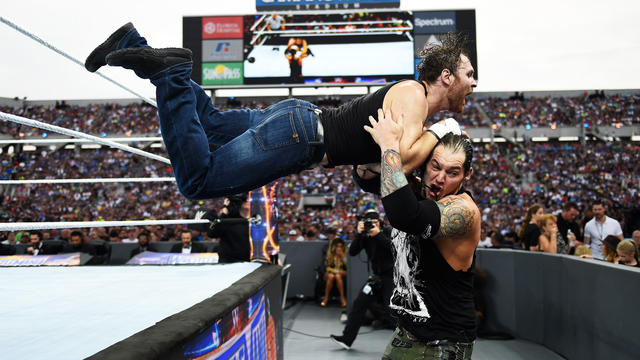 Image result for wrestlemania 33 dean ambrose vs baron corbin