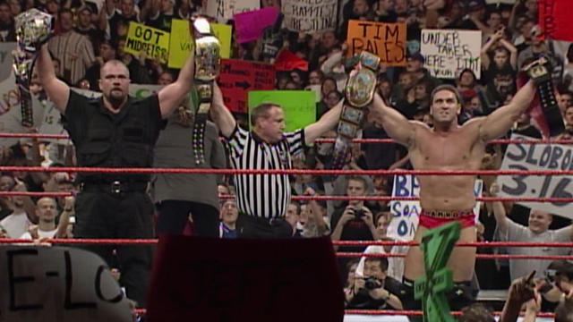 Big Boss Man And Ken Shamrock Vs New Age Outlaws Wwe Tag Team Championship Match Raw December 14 1998
