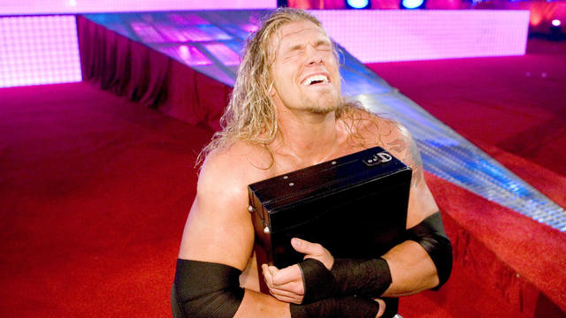 Edge wins the Money in the Bank Ladder Match at ...