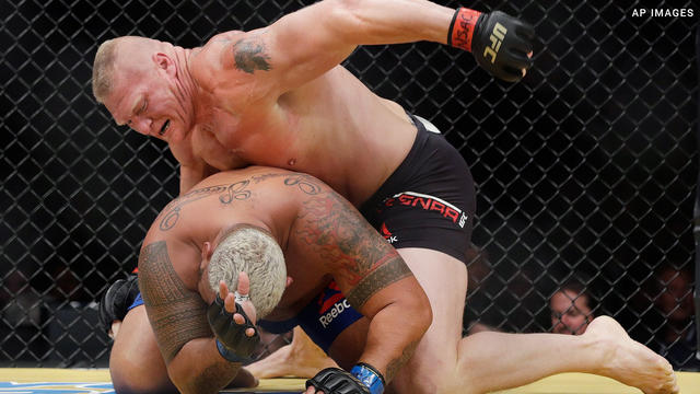 Brock Lesnar defeats Mark Hunt at UFC 200: photos