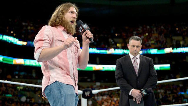 Daniel Bryan speaks to the WWE Universe at the Money in the ...
