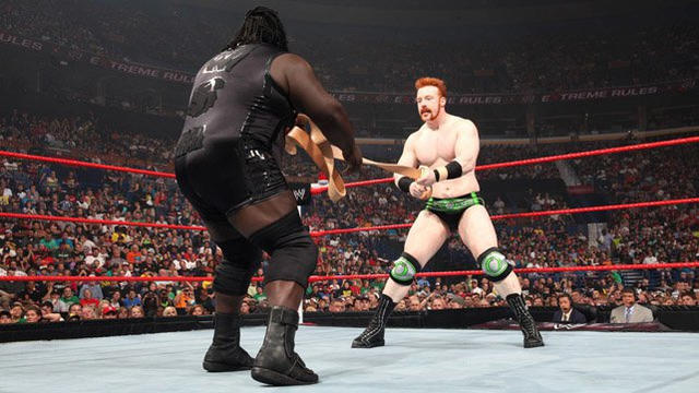 Sheamus def. Mark Henry (Strap Match)