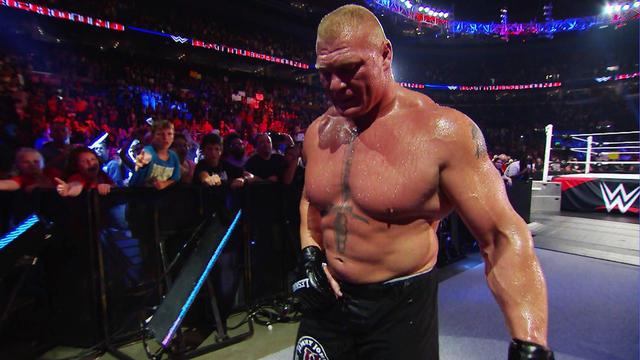 Brock Lesnar leaves WWE Battleground 2015 after The ...