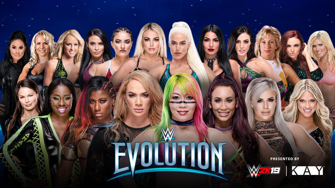 Confirmed and Potential Matches for WWE Evolution 2018 20181026_Evolution_MATCH_BattleRoyal_UPDATE_logo--390c4bf27907255925acc6bbc6c0d150
