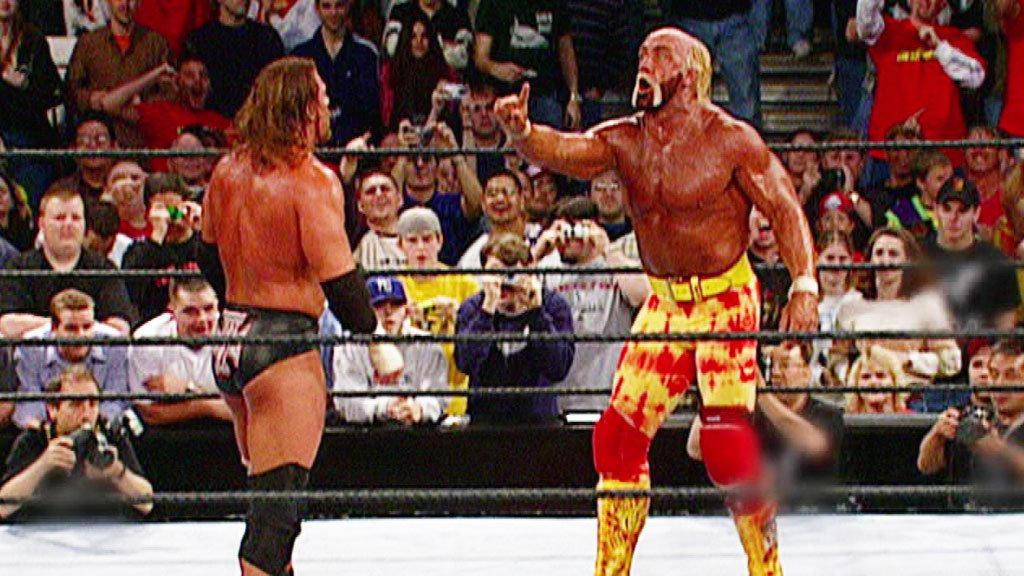 Resultado de imagem para Hollywood Hulk Hogan vs triple h backlash