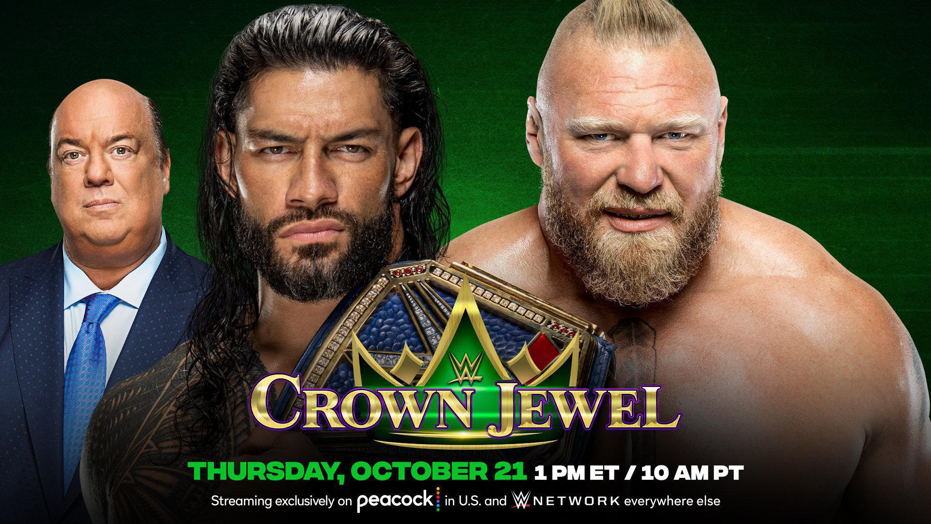 WWE Crown Jewel 2021 Poster