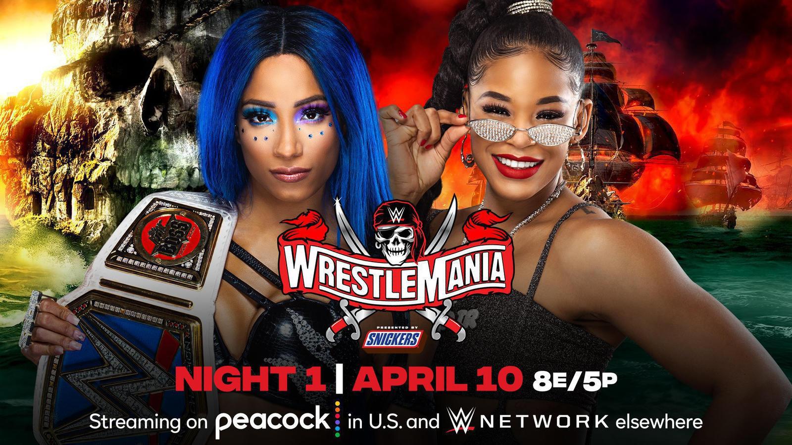 Sasha Banks vs Bianca Belair to Main Event WrestleMania 37 Night 1