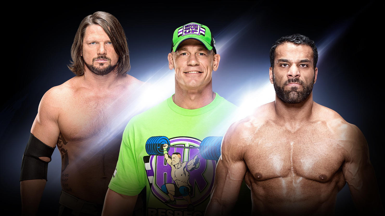John Cena vs AJ Styles in the main event