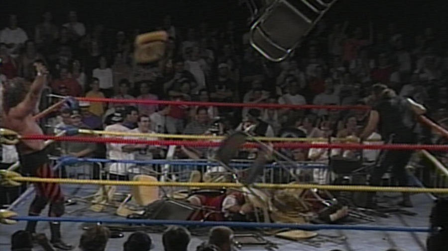 The ECW fans throw chairs into the ring: Hardcore Heaven 1994 | WWE