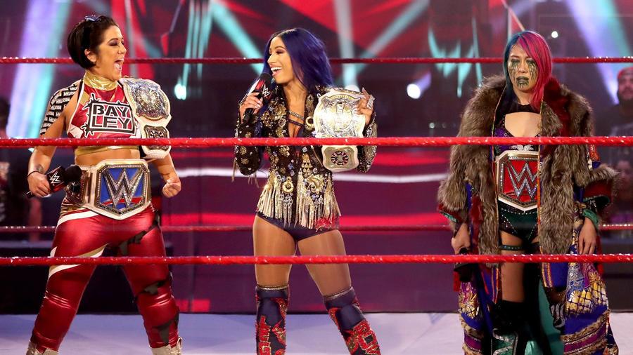 Bayley & Sasha Banks interrupt Asuka: Raw, June 8, 2020   WWE