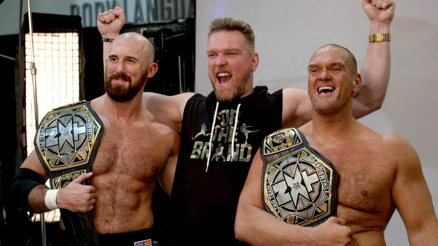 Pat McAfee joins Burch & Lorcan for their first photo shoot as champions: WWE Network Exclusive, Oct. 21, 2020 | WWE