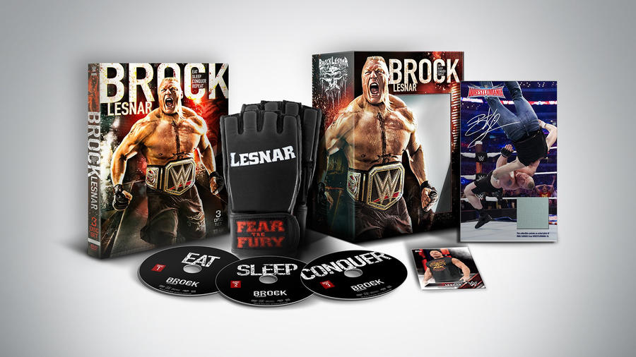 Get The Brock Lesnar Eat Sleep Conquer Repeat Blu Ray DVD Collectors Set Now