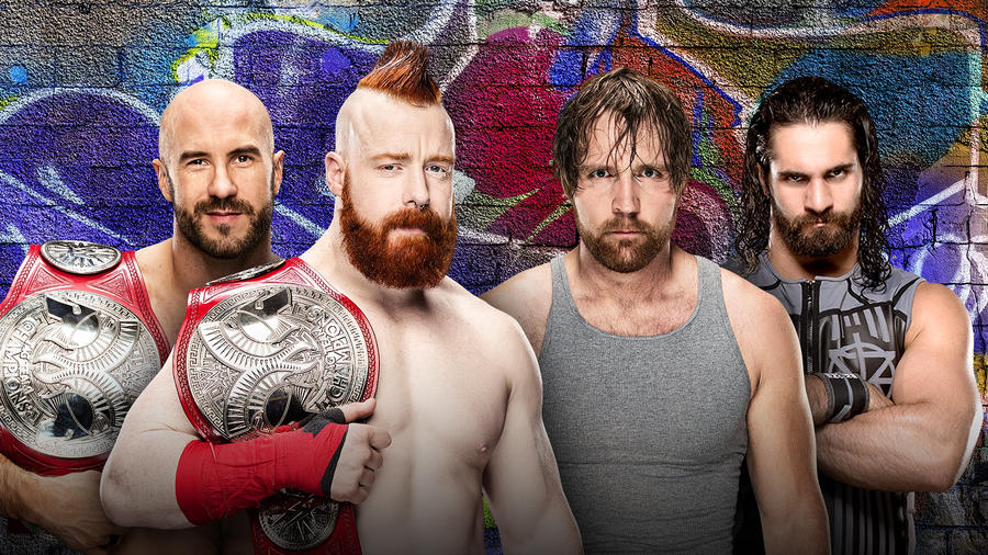 Image result for Raw Tag Team Champions Dean Ambrose and Seth Rollins vs. Cesaro and Sheamus
