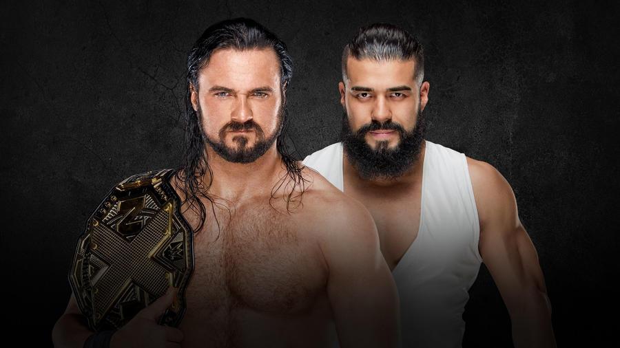 "Znalezione obrazy dla zapytania NXT Championship Match: Drew McIntyre (c) vs. Andrade ""Cien"" Almas"