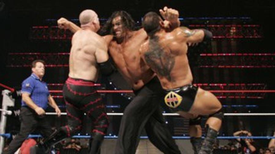 World Heavyweight Champion The Great Khali def  Batista and