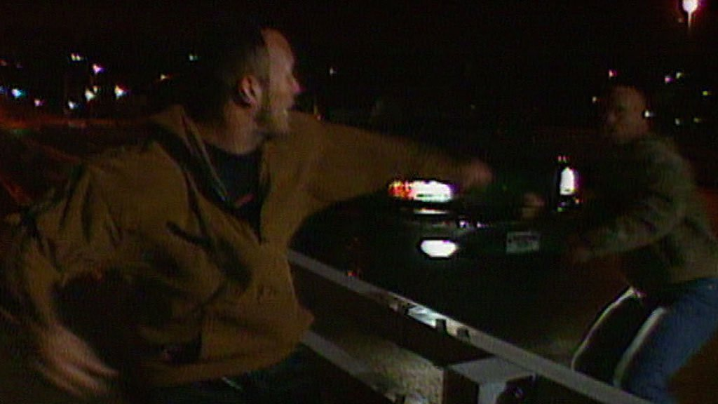 "The Rock throws ""Stone Cold"" Steve Austin off a bridge into a river: Raw, April 12, 1999"