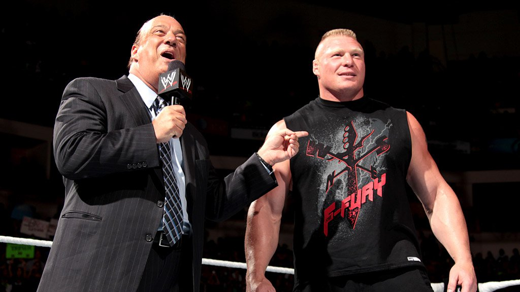 Paul Heyman and Brock Lesnar on Monday Night RAW