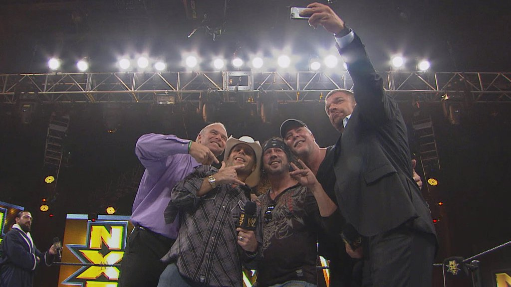 DX and Kevin Nash invade the NXT taping at Full Sail University