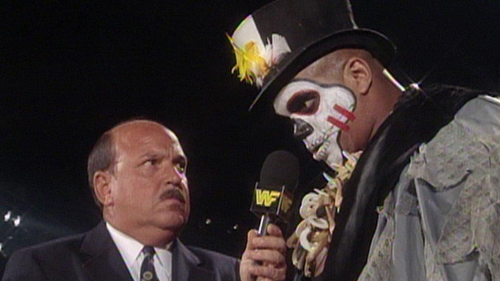 Papa Shango jette un sort vaudou à Mean Gene Okerlund: Superstars, 6 juin 1992
