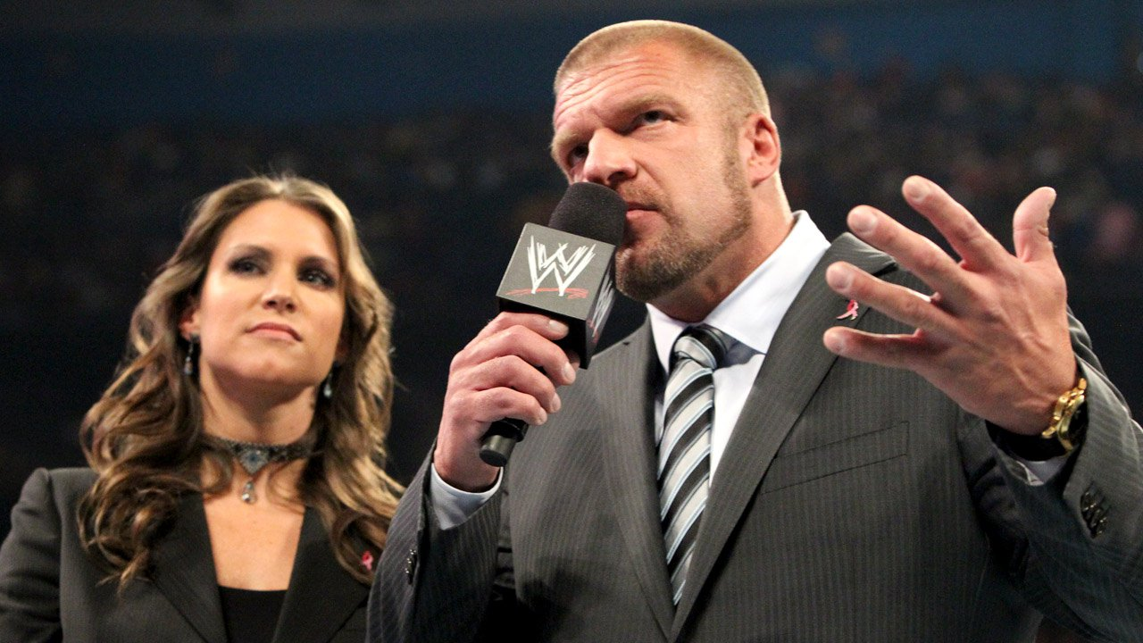 Triple H with beautiful, cute, intelligent, Wife Stephanie McMahon