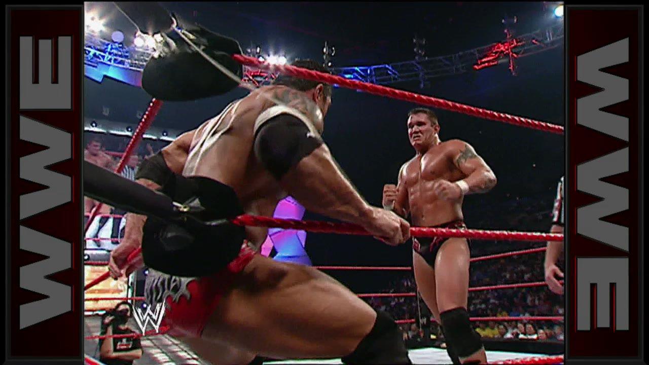 Resultado de imagem para orton vs batista contender match 2005