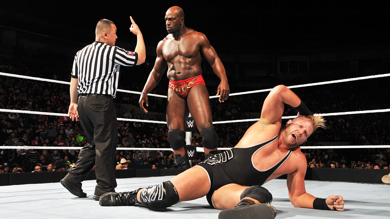 Jack Swagger vs. Titus O'Neil: WWE Main Event, 6 janvier 2015