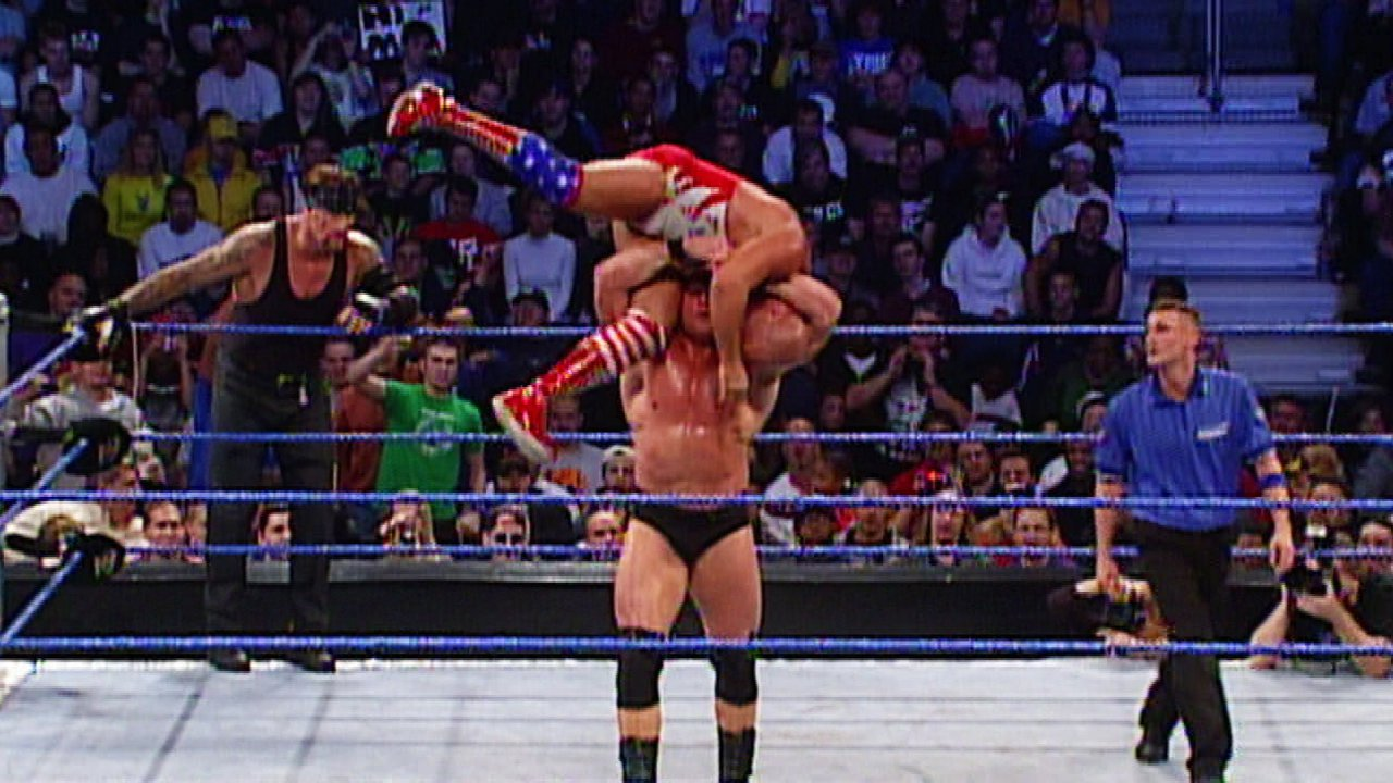 Brock Lesnar & John Cena vs. Kurt Angle & The Undertaker: SmackDown 02.10.2003