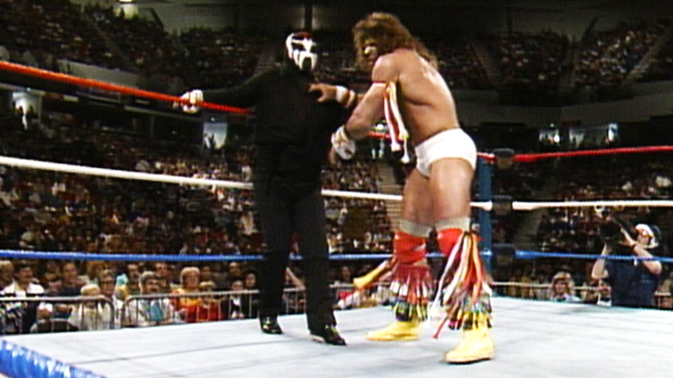 Super Ninja affonte Ultimate Warrior pour son seul match: Saturday Night's Main Event, 26 novembre 1988