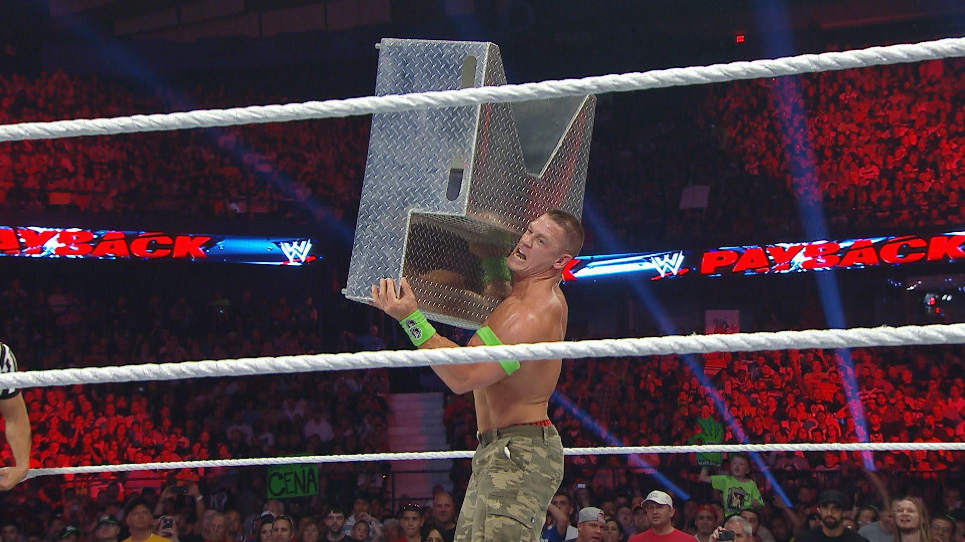 John Cena hurls steel stairs at Bray Wyatt: WWE Payback 2014