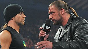 Shawn Michaels with Triple H
