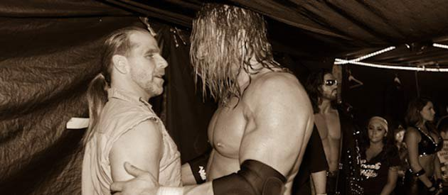 Triple H and HBK embrace