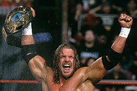 Triple H wins his third World Championship.