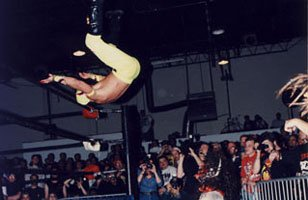 Rey Mysterio competes in ECW.