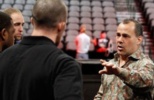 Dean Malenko at work as a producer for WWE.